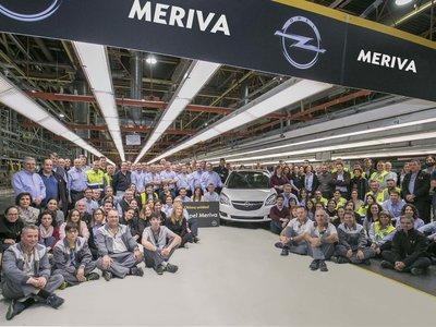 Figueruelas dice adiós al Opel Meriva tras 1,6 millones de unidades fabricadas