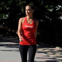 El look de Bar Rafaeli para hacer deporte