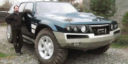 Este SUV ruso con motor de tanque es tan exageradamente gigante que hace parecer diminuto a su creador