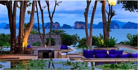 Atardecer bahía Phang Nga