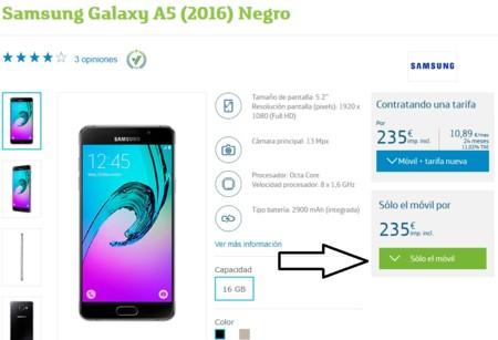 Oferta Galaxy A5 Movistar