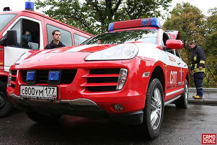 Porsche Cayenne S Emergency Vehicle para los bomberos rusos