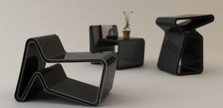 Tona chair, mesa o silla según la posición