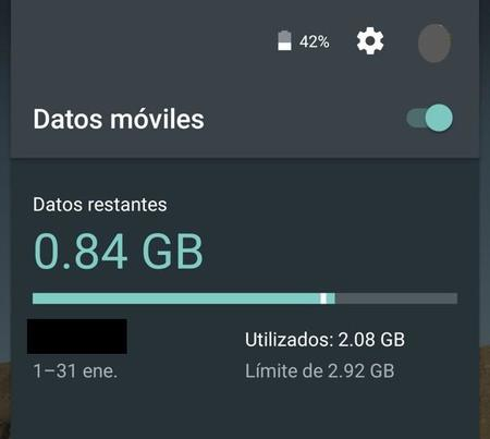 Consumo Datos Android Lollipop