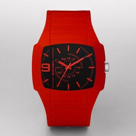 reloj diesel rojo