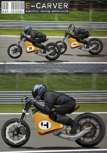 E-CARVER, electric racing motorcycle