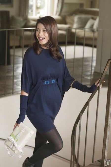 prenatal vestido azul fiesta