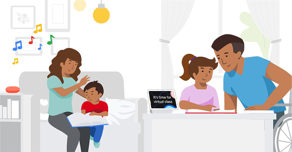 Cómo programar los nuevos avisos familiares del Asistente de Google para altavoces y pantallas inteligentes