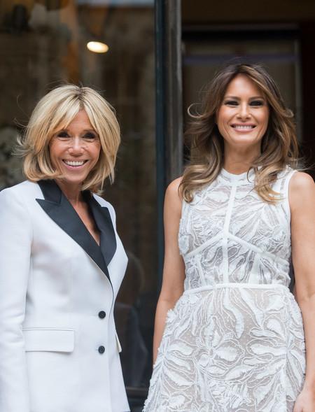Melania Trump Y Brigitte Macron 3