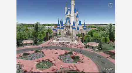 Visita virtual a Disney World con Google Earth