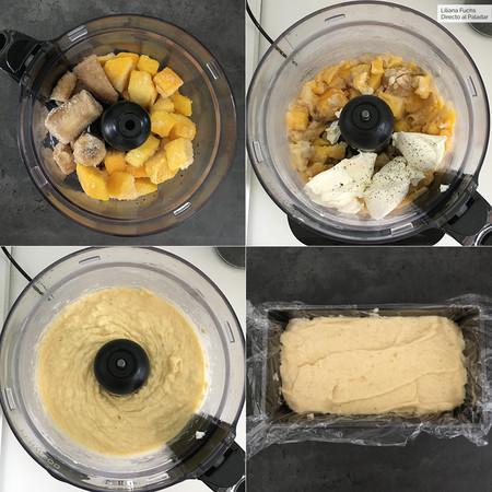 Helado de mango y plátano. Pasos