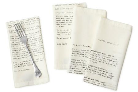 Servilletas con cartas de amor, una idea original para San Valentín