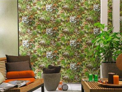 Papeles pintados de estilo tropical para prolongar la sensación de vacaciones