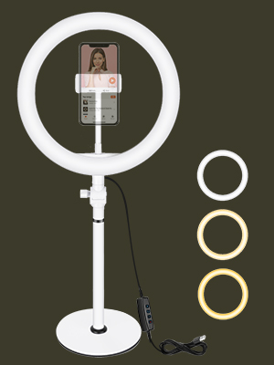 Neewer - Aro de luz LED, USB, para escritorio, 26cm, 3200K-5600K y tres modos de luz