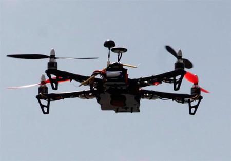 Drone utilizado por la Policia para vigilar a manifestantes