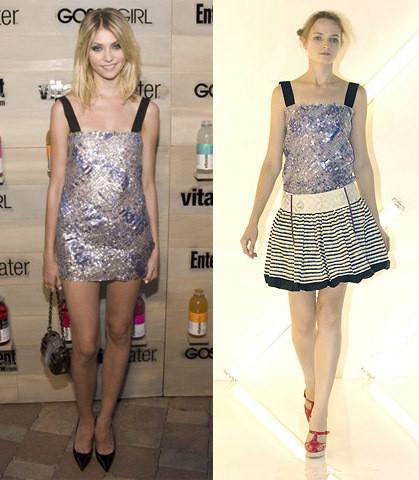Taylor Momsem, la benjamina de Gossip Girl, o cómo hacerse un vestido de noche con un top