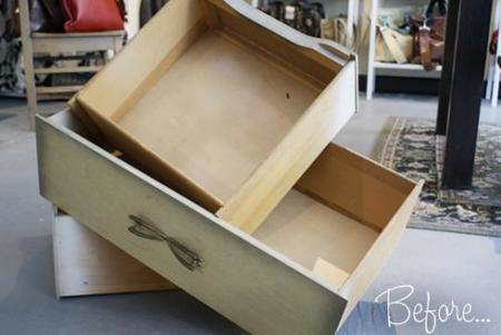 Recicladecoración: aprovecha tus viejos cajones para fabricar repisas