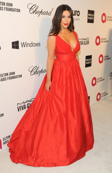 Kim Kardashian fiesta Elton John Oscar 2014