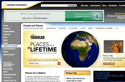 Places of a Lifetime, nueva web de National Geographic