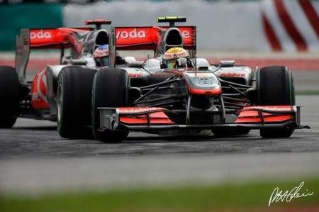 Lewis Hamilton en el GP de Malasia 2010