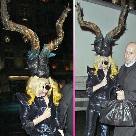 A Lady Gaga ahora le da por los tocados imposibles