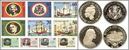 La retorcida historia de Sealand (III): dólares sealandeses, pasaporte falsos y otras cosas 'made in sealand'