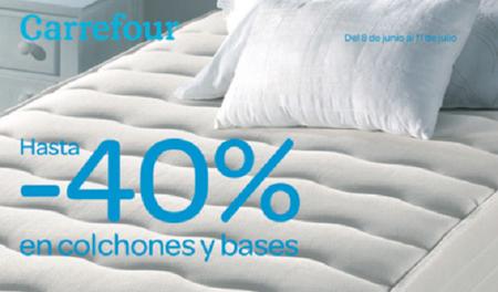 Carrefour pone de rebajas su oferta de colchones