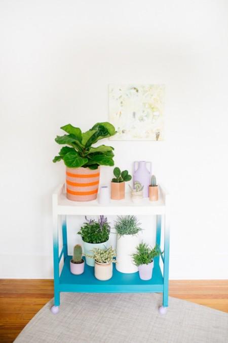 Ombre Modern Plant Cart Diy