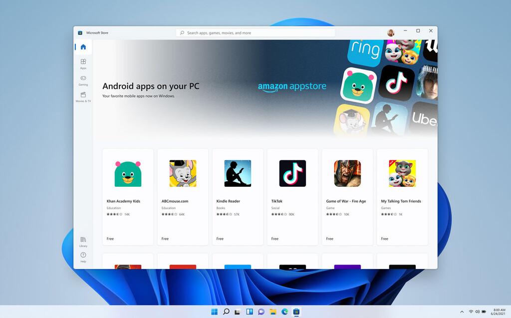 Windows 11 no soportará las apps de Android en su lanzamiento, su compatibilidad llegaría en el 2022