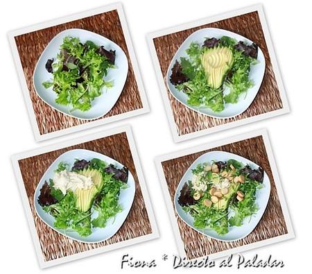 Preparación de la ensalada