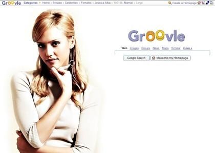Groovle: personalizando el aspecto de Google con diferentes fondos
