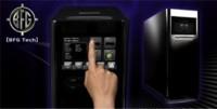 Caja de BFG con pantalla táctil en el frontal
