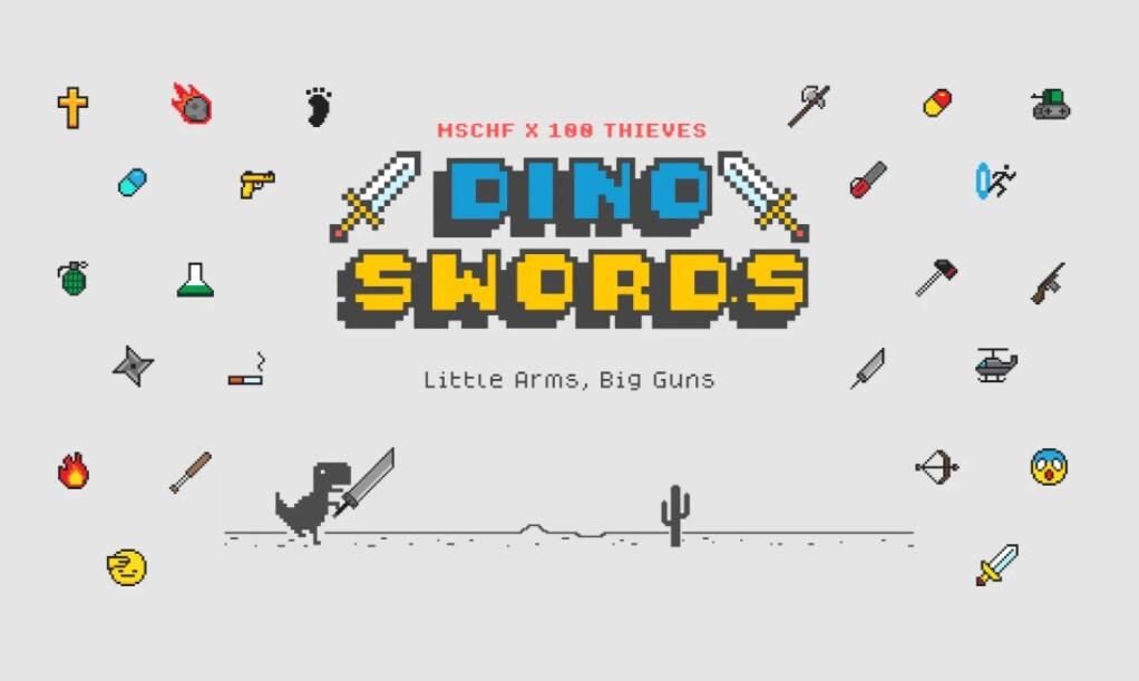 Crean una versión del juego del dinosaurio de Chrome en la que contamos con 26 armas para defendernos