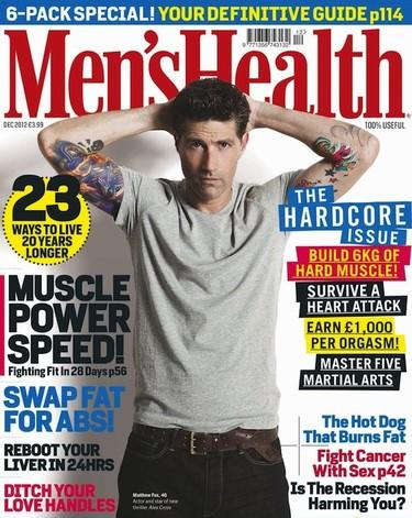 Matthew Fox... ¿qué invento es este de salir en la Men's Health y no enseñar nada de cacha?