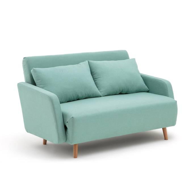 Sofá cama de tejido texturizado de 2 plazas, Cosico