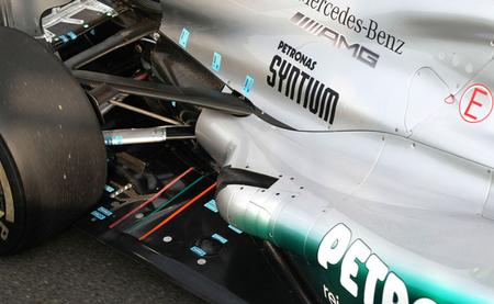 Mercedes estrenará el nuevo sistema de escape del W03 en Singapur