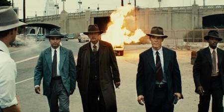 Los protagonistas de Gangster Squad tras cumplir una de sus misiones