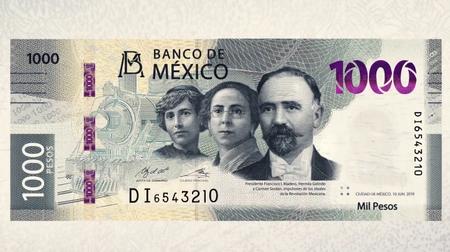 Nuevo billete de 1,000 pesos en México: Francisco I. Madero, Carmen Serdán y Hermila Galindo para conmemorar la Revolución