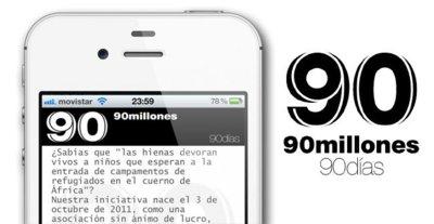 #90mn90d: 90 millones en 90 días, la iniciativa para ayudar a África, ya disponible en la App Store