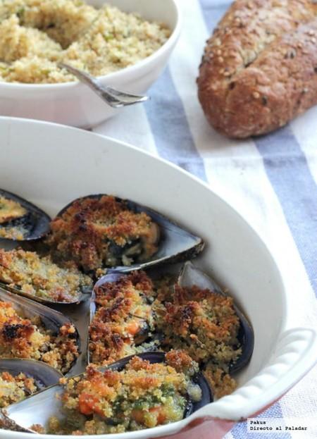 Mejillones a la provenzal, receta de aperitivo para cuando no tenemos casi nada en la nevera
