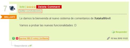 Nuevo sistema de comentarios en XataMóvil