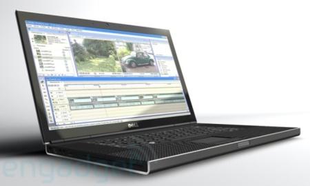 Concepto de portátil Dell delgado