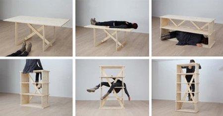 Un único mueble modular, que sirve para todo