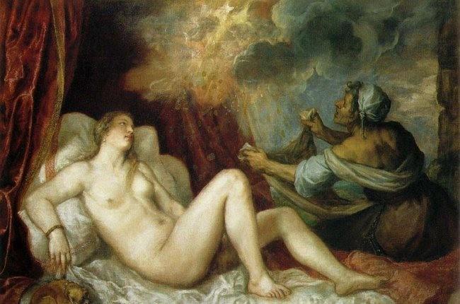 Dánae de Tiziano