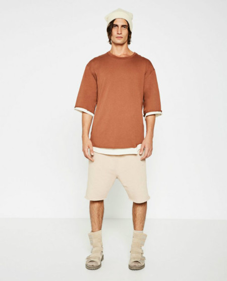 Zara Man Streetwise Collection Piped Seam T Shirt 800x991