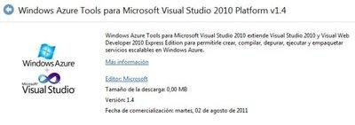 Liberada la versión de Agosto del 2011 de las herramientas de Windows Azure para Visual Studio 2010