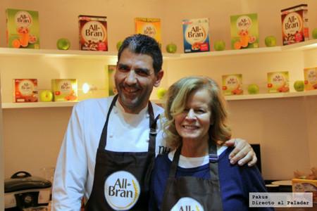 Platos de alta cocina con mucha fibra elaborados por Inés Ortega y Paco Roncero