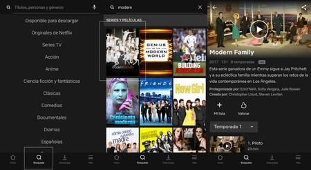 Cómo buscar series y películas en Netflix