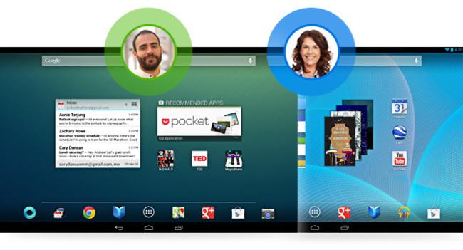 Soporte multiusuario de Android 4.2 para tablets
