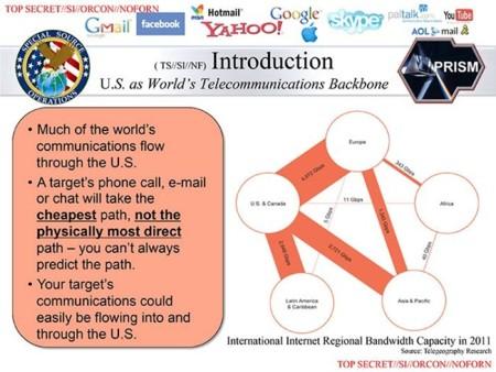 Otra de las diapositivas del programa secreto PRISM